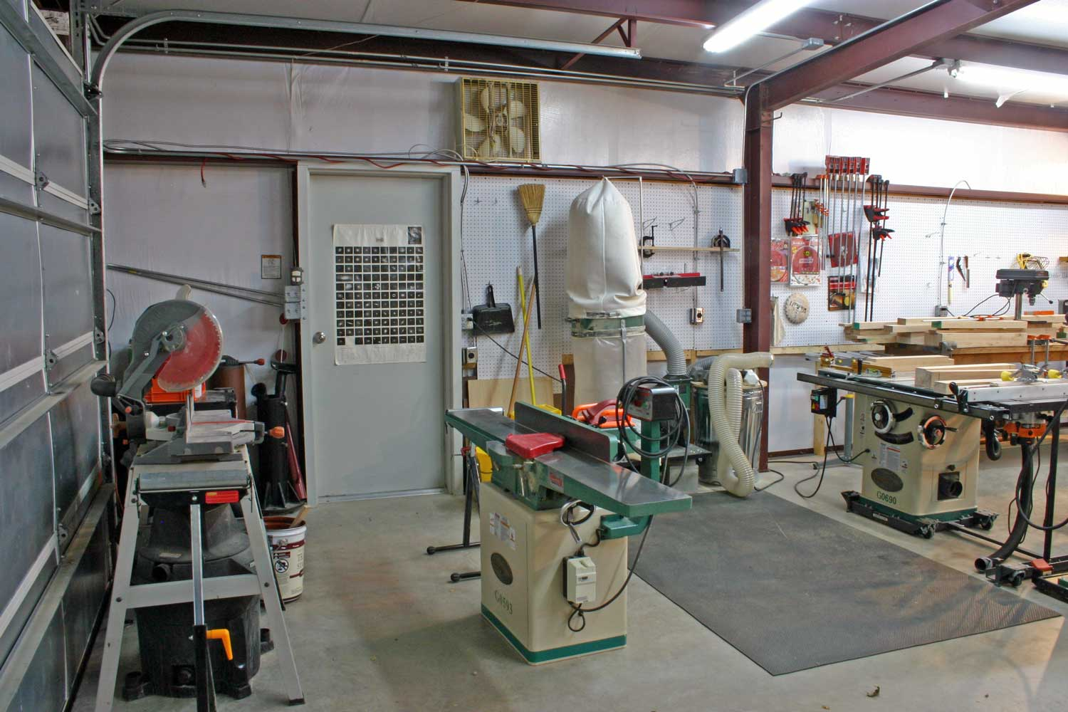 Layout For Woodworking Shop